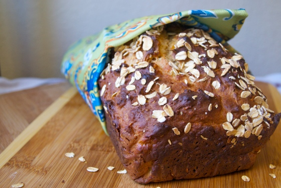 Honey Oat Quick Bread | Insatiably
