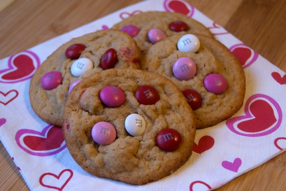 Valentines PB M&M Cookies (2)
