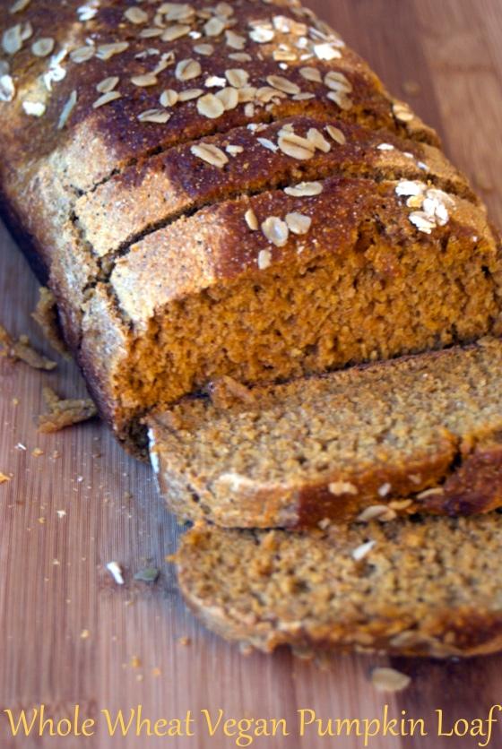 Whole Wheat Vegan Pumpkin Loaf