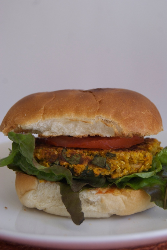 Vegan Sweet Potato Quinoa Burgers