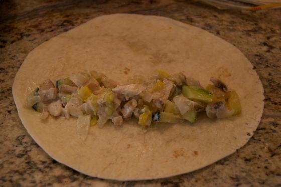 Zucchini Mushroom & Chicken Enchiladas