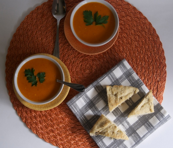 Red Pepper Gouda Soup