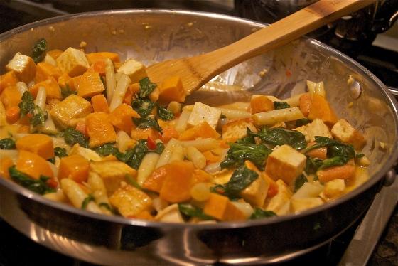Coconut Curry Veggies & Tofu